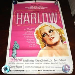 1965 HARLOW Original poster Jean Harlow movie